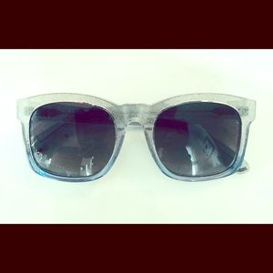Wildfox Blue Sparkle Sun Glasses